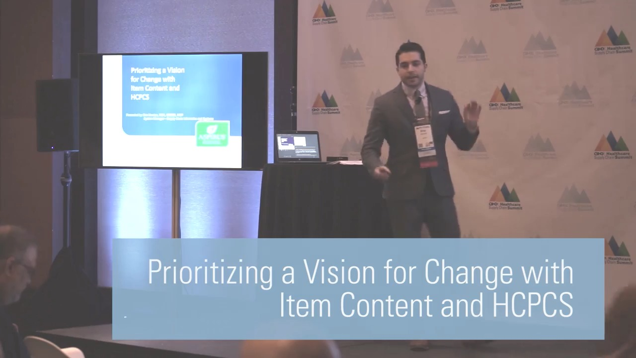 Prioritizing a Vision for Change with Item Content and HCPCS